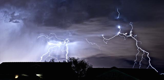 lightning clouds storm